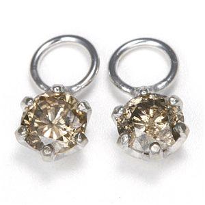 【送料無料】K18 0.2ctダイヤモンドチャーム ホワイト(WG)