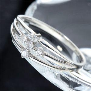 0.1ctダイヤモンドサザンクロスシルバーリング