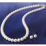 【送料無料】花珠真珠(あこや真珠) パールネックレス&パールピアス 7〜7.5mm玉