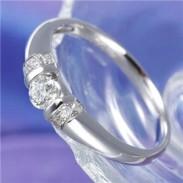 0.28ctプラチナダイヤモンドデザインリング